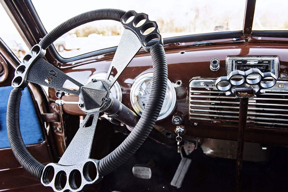 Interior of restored car