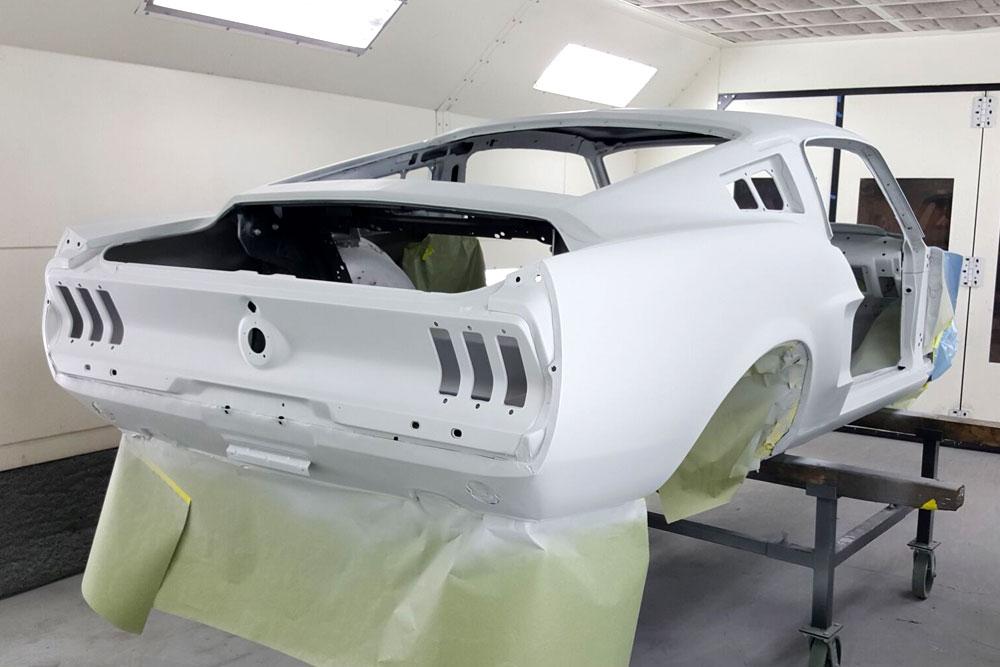 Pre paint job of car